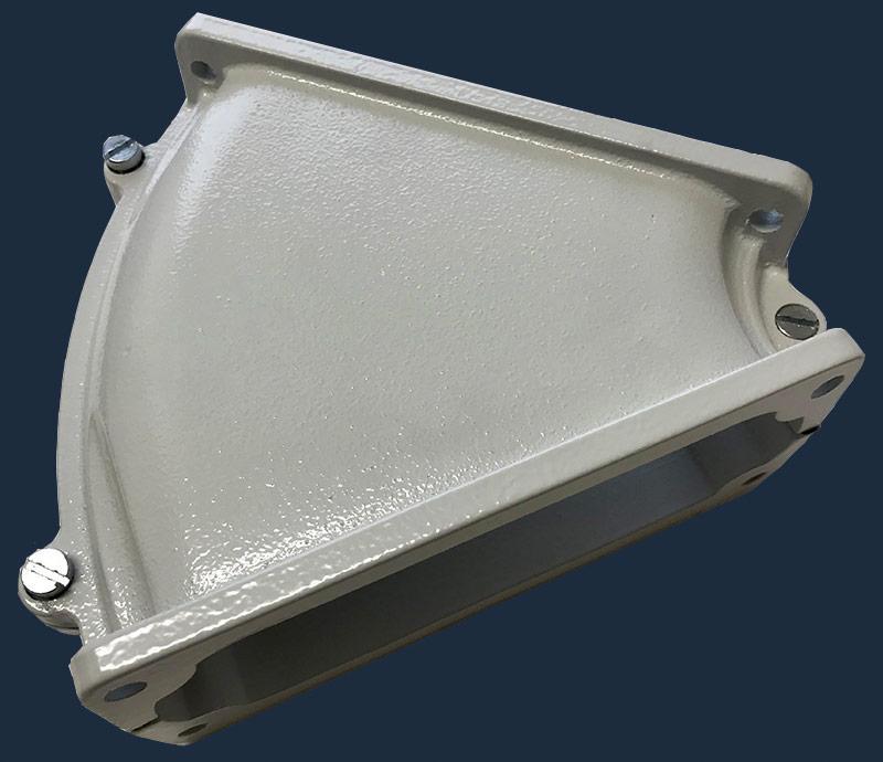 Delbar vinkelfläns FL 2145 grader i lättmetall, IP klass 67